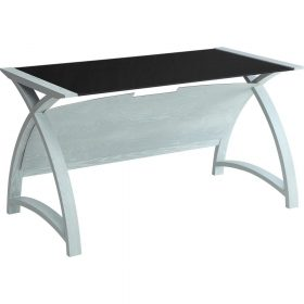 Jual Helsinki PC201 1300mm Table Grey Ash Black Glass