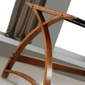 Jual Helsinki PC201 TABLE 1300 WB Wood and Glass Desk Walnut