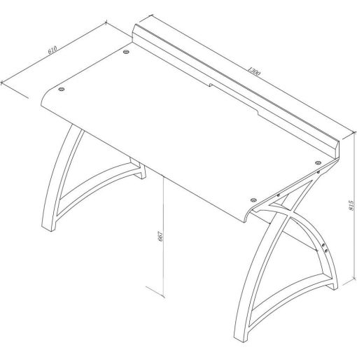 Dimensions Technical Drawing For Jual PC602 1300 Table