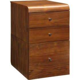 Jual Santiago PC605 3 Drawer High Pedestal Walnut