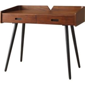 Jual Vienna PC609 1100mm Desk 2 Drawers Walnut Spindle Legs