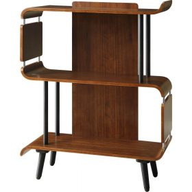 Jual Vienna PC611 Small Bookshelf Walnut Spindle Legs