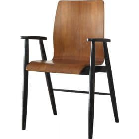Jual Vienna PC612 Office Armchair Walnut Spindle Legs