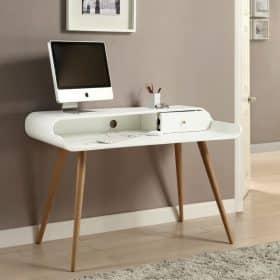 Lifestyle Home Setting Images For Jual PC702 Tower Desk White Ash