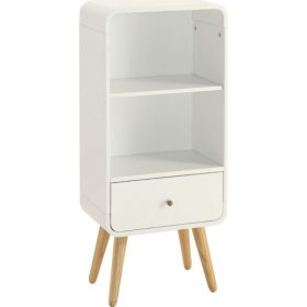 Jual PC704 White Ash Retro Style Short Bookcase