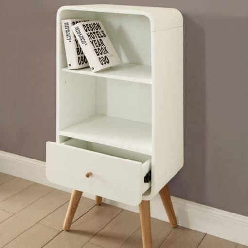 Lifestyle Home Setting Images For Jual PC704 Short Bookcase White Ash