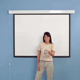 Leader LSE4000 Electric Projector Screen 1:1 Square 150 x 150cm