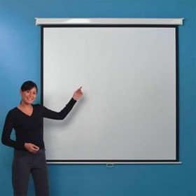 Leader Manual Projector Screen 1 1 125 X 125 2