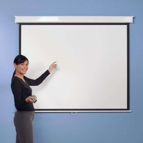 Metroplan 210301 Manual Wall Projector Screen Square 1:1 1250mm
