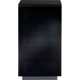 BDi Mirage 8222 Satin Black Tall Home Cinema Cabinet 8222/BL