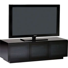 BDi Mirage 8227-2 Satin Black Home Cinema Cabinet 8227-2/BL