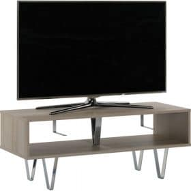 Off The Wall Chevron 1100 Open TV Stand / Coffee Table Oak