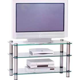 Optimum AV30SL Audio Visual Glass TV AV Stand
