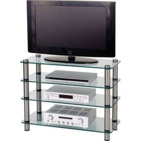 Optimum AV40SL Audio Visual Glass TV AV Stand