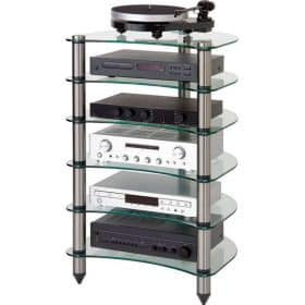 Optimum OPT-1020 Premier Curved Glass Hi-Fi Stand