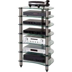 Optimum OPT-1190 Premier Curved Glass Hi-Fi Stand
