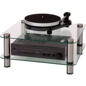 Optimum OPT-2000 Prelude 2 Shelf Glass Hi-Fi AV Stand