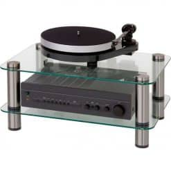 Optimum OPT2000SL Prelude 2 Shelves Glass Hi-Fi AV Stand