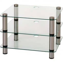 Optimum OPT-3000 Prelude 3 Tier Shelf Glass Hi-Fi AV Stand