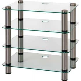 Optimum OPT4000SL Prelude 4 Tier Glass Hi-Fi AV Stand