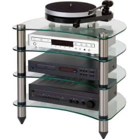 Optimum OPT440 Premier Curved Glass Hi-Fi Stand