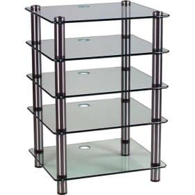 Optimum OPT-5000 Prelude Glass Hi-Fi AV Stand 5 Shelves