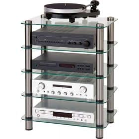 Optimum OPT5000SL Prelude 5 Tier Shelf Glass Hi-Fi AV Stand