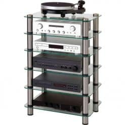 Optimum OPT6000SL Prelude 6 Shelf Tiers Hi-Fi AV Stand