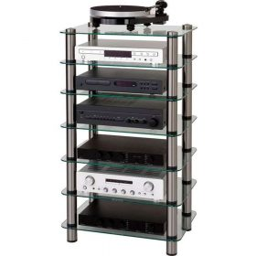 Optimum OPT7000SL Prelude 7 Tier Glass Hi-Fi AV Stand