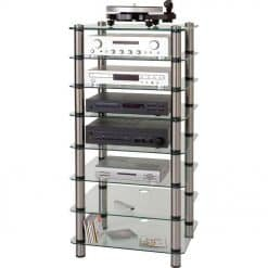 Optimum OPT-8000 Prelude 8 Shelf Tier Tall Hi-Fi AV Stand