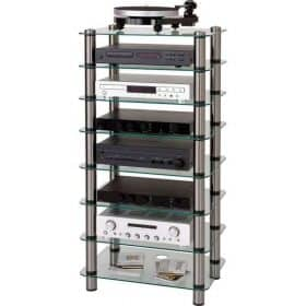 Optimum OPT8000SL Prelude 8 Tier Tall Hi-Fi AV Stand