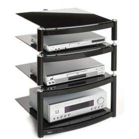 S1 Atacama Equinox Celebration Le Hi Fi Stand 1 Base And 2 Shelves Black 3