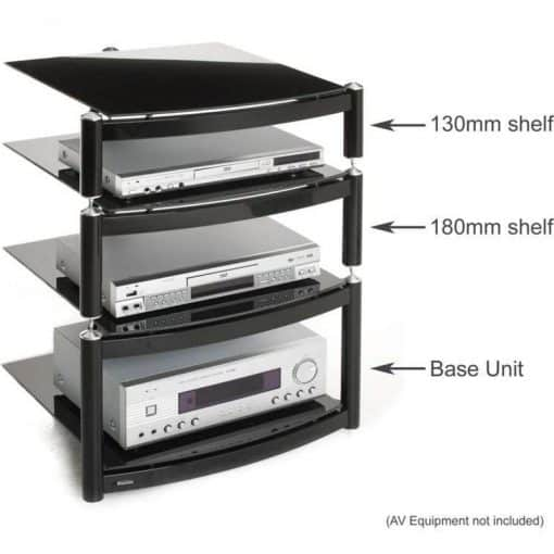 S4 Atacama Equinox Celebration Le Hi Fi Stand One 180mm Shelf Black 2