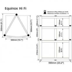 S5 Atacama Equinox Celebration Le Hi Fi Stand One 180mm Shelf Black 2