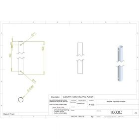 Additional Images For Unicol 1000c 100cm Column For Ceiling Installation