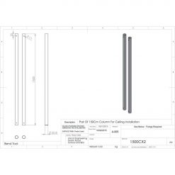 Unicol 1500CX2 Pair Of 1500mm Column For Ceiling Installation