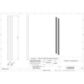Additional Images For Unicol 1500x2 Pair Of 150cm Columns