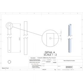 Additional Images For Unicol 2000c 200cm Column For Ceiling Installation