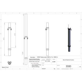 Unicol 3350 Telescopic Single Column 84 To 128cm