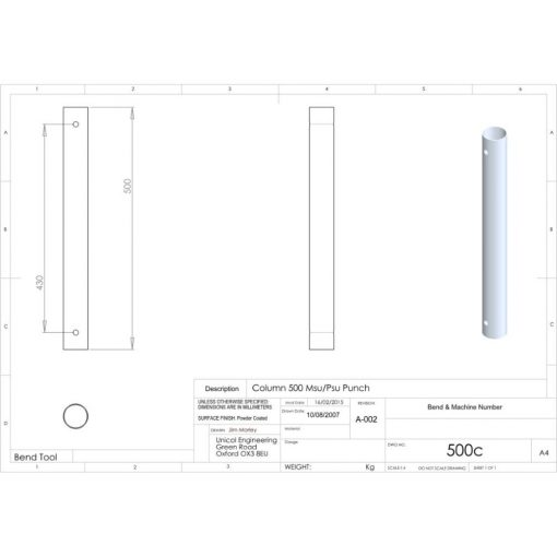 Additional Images For Unicol 500c 50cm Column For Ceiling Installation