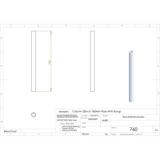 Additional Images For Unicol 760 30 Inch 76cm Standard Column