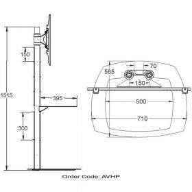Dimensions Technical Drawing For Unicol AVhp
