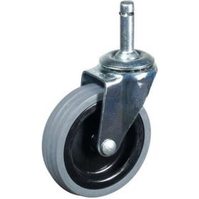 Unicol C104 Unbraked Rubber Tyred Castors Set of 4