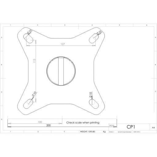 Additional Images For Unicol Cp1 Single Socket Ceiling Plate 12 X 12cm 3