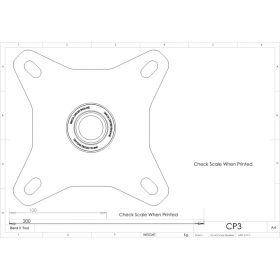 Additional Images For Unicol Cp3 Pegged Ceiling Plate 12 X 12cm 2
