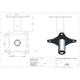 Additional Images For Unicol Cp3 Pegged Ceiling Plate 12 X 12cm