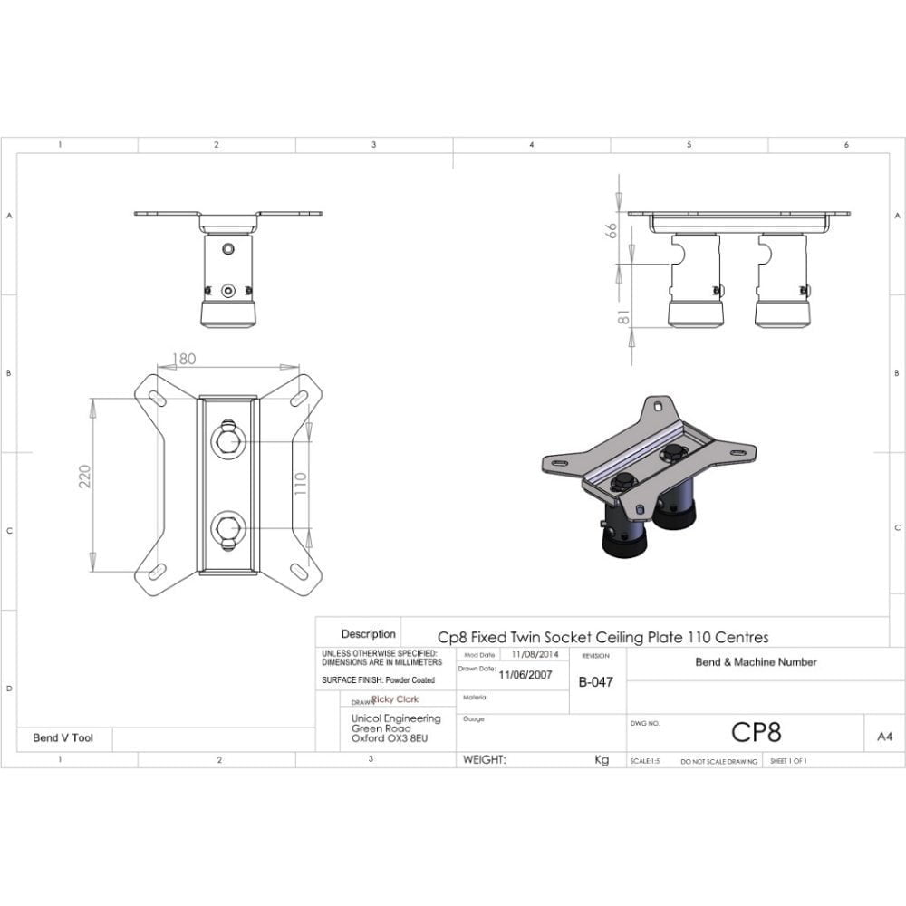 Unicol Ceiling Plate Cp8 With Price Match Amp Free Shipping