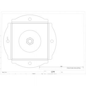 Additional Images For Unicol Cp9 Cp9 Twin SWivel Ceiling Plate 3