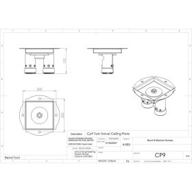 Additional Images For Unicol Cp9 Cp9 Twin SWivel Ceiling Plate