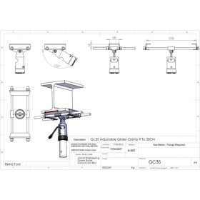 Additional Images For Unicol Gc35 Girder Clamp 9 To 35cm Flange 25mm